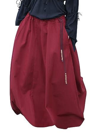 37c79c5e1498 Mittelalterlicher Rock, weit ausgestellt, rot aus Baumwolle Größe XL