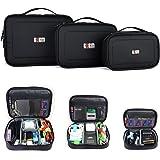 BUBM Waterproof Portable Electronic Accessories Travel Organizer Case (3pcs/set L+M+S)