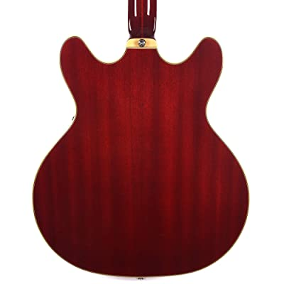 Guild Guitars Starfire IV ST 12-String Semi-Hollow Body Electric Guitar Newark St Collection with Hardshell Case Double-Cut w//stop tail Cherry Red