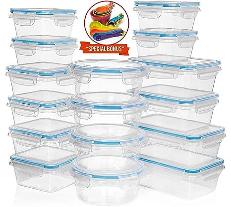Amazon.com: Juego de 32 piezas (16 contenedores) + 14 tazas ...