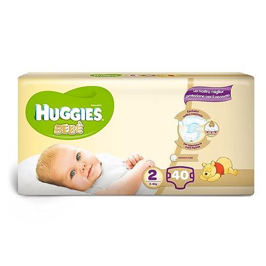 177 opinioni per Huggies Bebè Pannolini, Taglia 2 (3-6 kg), 1 Pacco da 40 Pezzi
