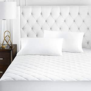 Beckham Hotel Collection Luxury Microfiber Mattress Pad - Quilted, Hypoallergnic, and Water-Resistant - King