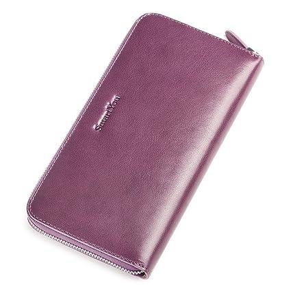 Jxth Titular de la Tarjeta de crédito Cartera de Cuero Long Lady Hand Purse Card Paquete ...
