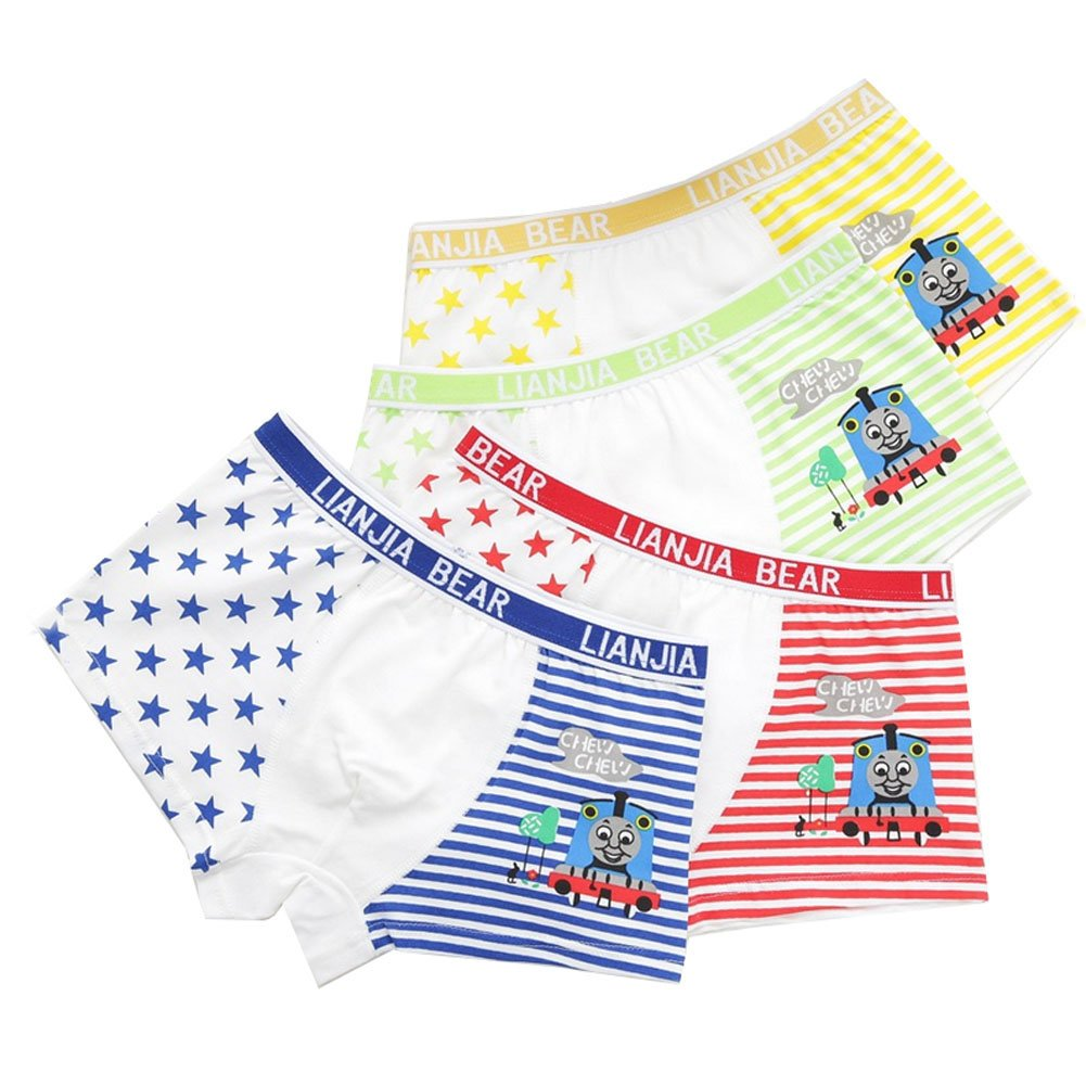 Boys Character Thomas Boxer Briefs Star & Striped Underwear For Toddlers 4 Pack YUMILY CAETNK1706134