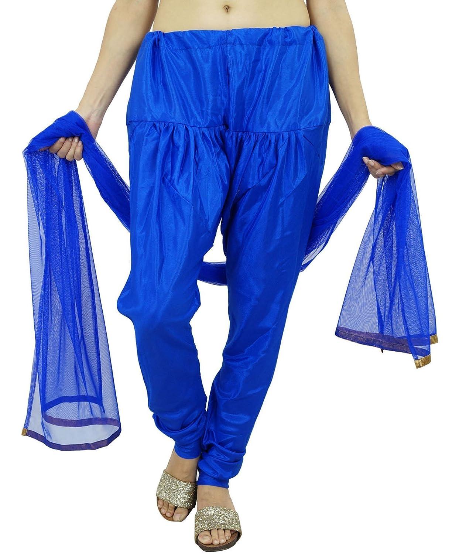 Shantung Salwar Mit Net Dupatta Adjustable Indian Ethnic Women Kleidung