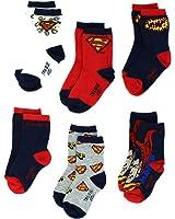 Superman Boys 6 pack Crew Socks (Baby/Toddler/Little Kid)