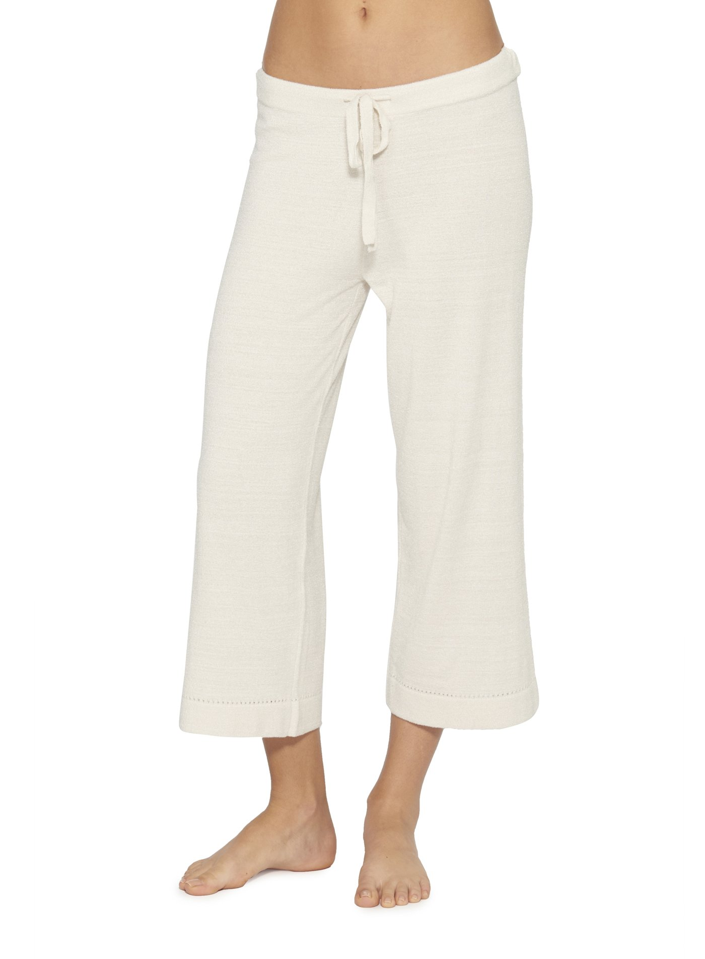 Barefoot Dreams CozyChic Ultra Lite Culotte Capri Pants - Small - By Barefoot Dreams, Sand Dune