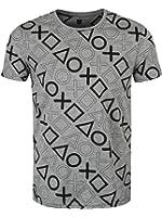 Playstation Allover T-Shirt grau meliert