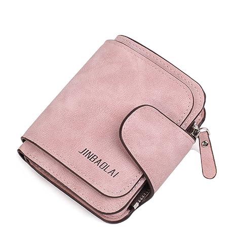 Cartera de Mujer Monedero de Mujer Monedero de Cremallera Monedero de Mujer (Color : Pink
