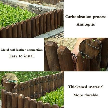 Amazon Com Zengai Garden Fence Fences Flower Bed Wood Fence