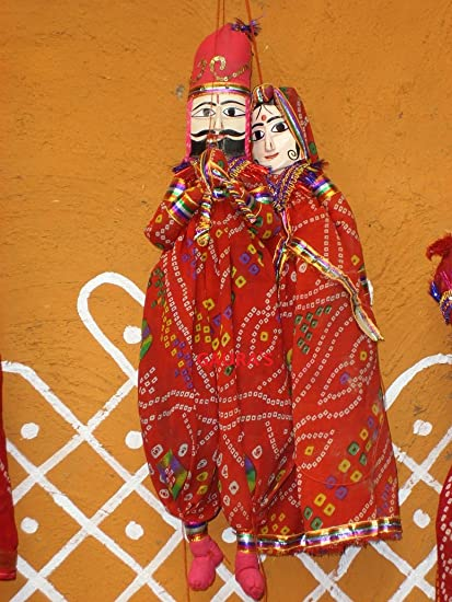 Buy Gaura S Art Crafts Rajasthani Wooden With Cloth Fancy Puppet