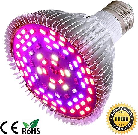 Amazon Com 50w Led Grow Light Bulb Led Plant Bulb Full Spectrum
