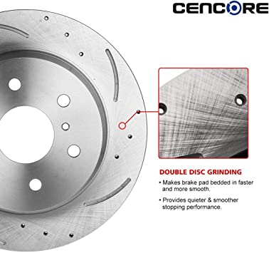 Front Brake Rotors And Ceramic Pads For 2013 2014 2015 Lexus GS350 IS350 IS350C