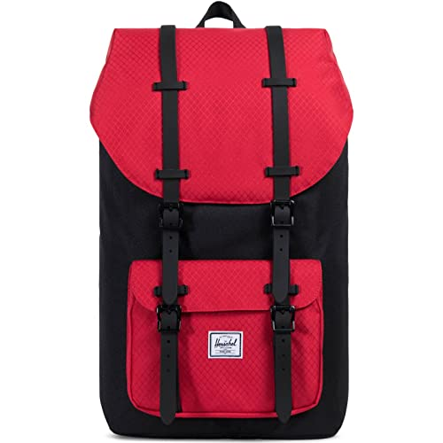83f2db3c5f4df Herschel Little America Backpack Rucksack 49.5 cm Black Scarlet ...