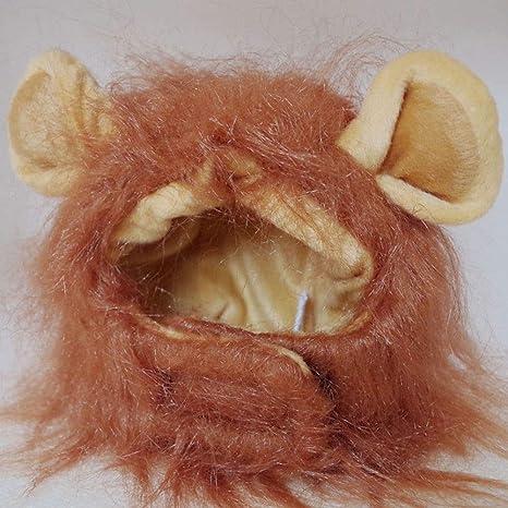 Peluca de Melena de león para Disfraz de Halloween de Gato, Cabeza ...