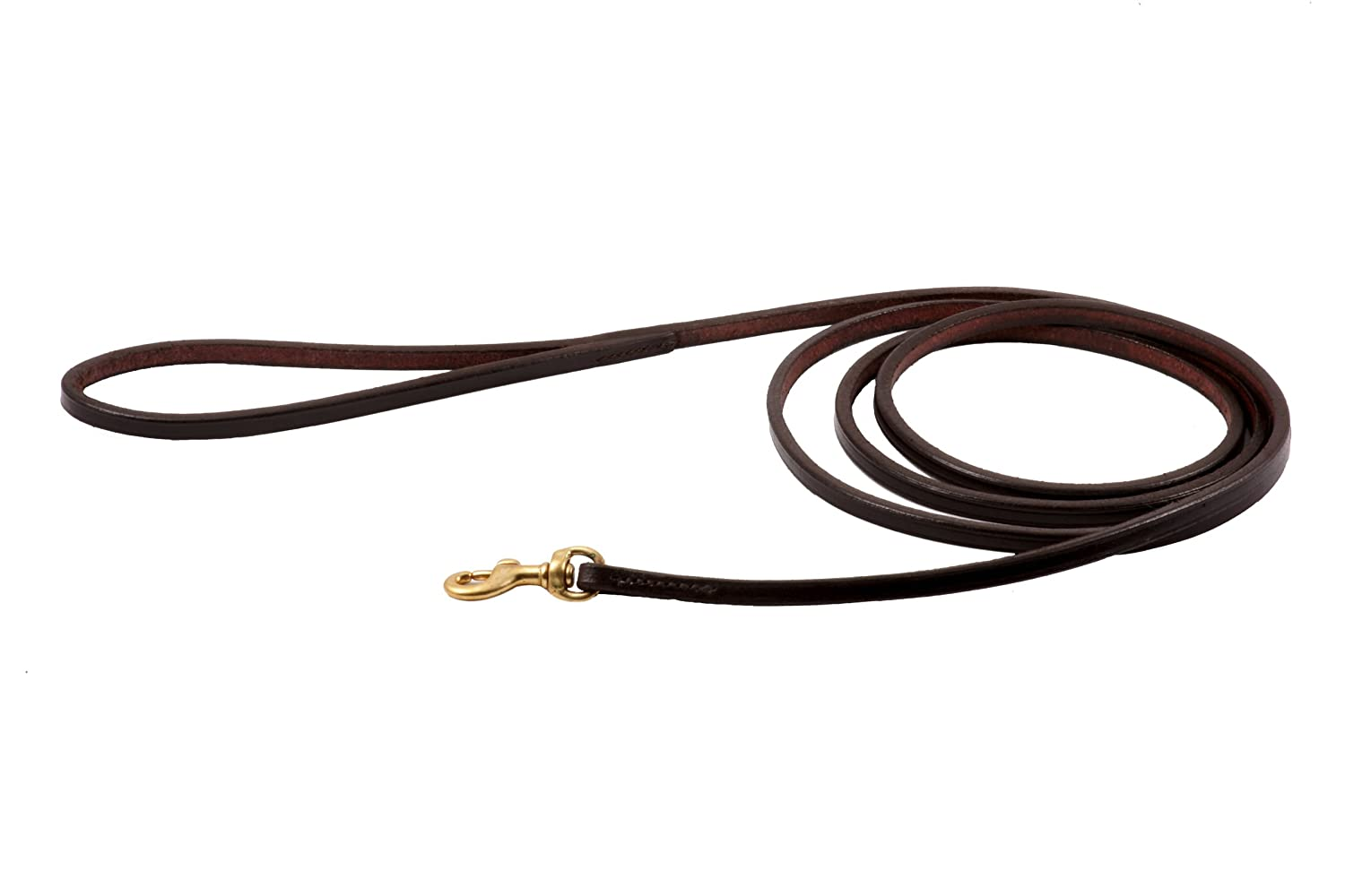 Brown Alvalley Flat Snap Lead for Dogs 3 16 in x 6ft