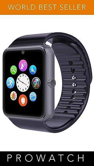Prowatch plus-Original ITALIANO Smartwatch-Reloj táctil con función teléfono inteligente PW1 Compatible con Ios y Android iPhone 6 plus, S, 6S 6plus, ...