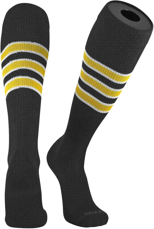 TCK Pro Elite Pirates Black, White, Gold Knee-High Long Striped Socks