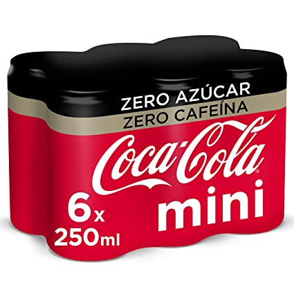 Coca-Cola - Mini Zero Zero, Refresco con gas de cola, 250 ml