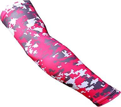 NEW Custom Number ADULT MEDIUM Sports Arm Sleeve Digital Camo HOT PINK Gray Grey