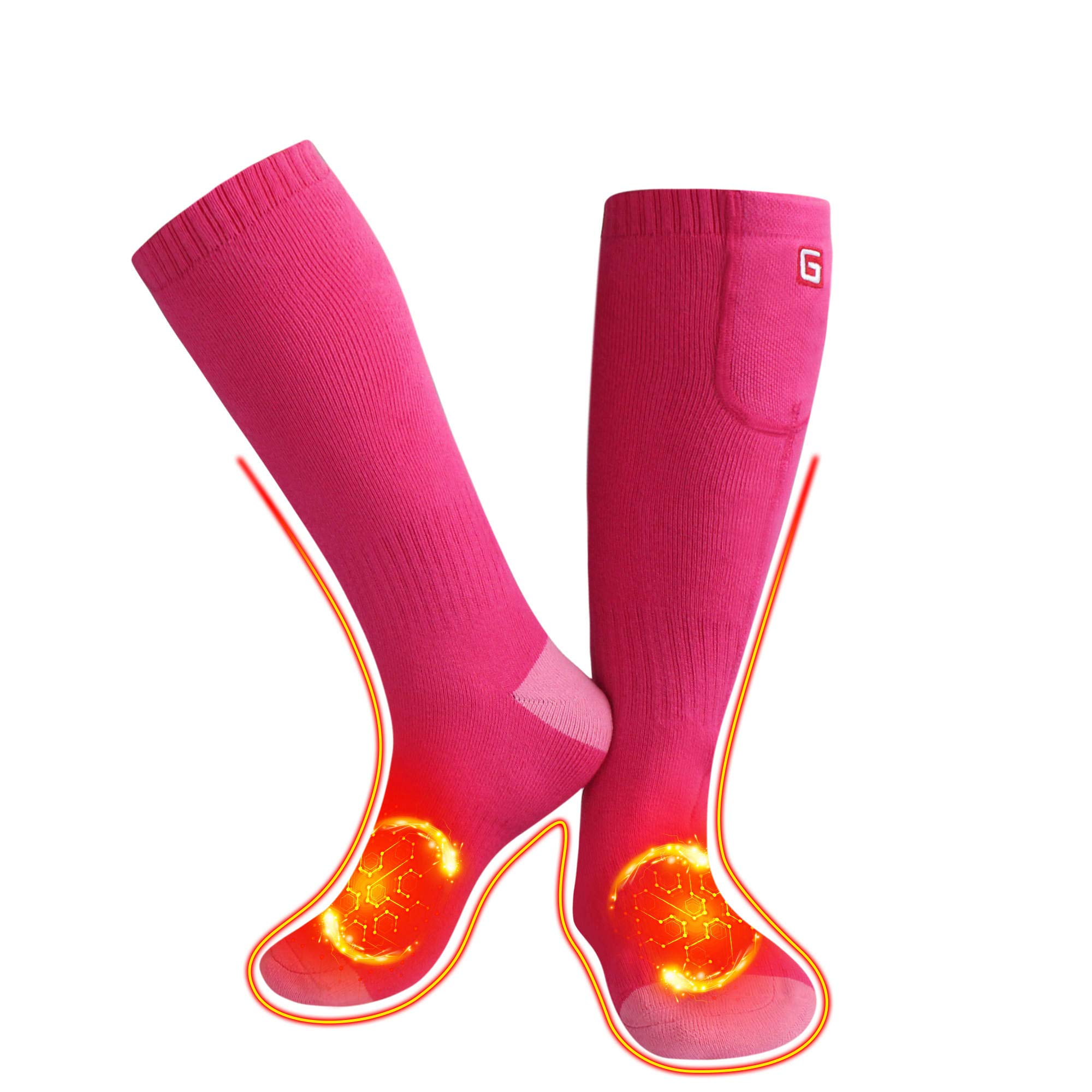 QILOVE Electric Rechargeable Heated Socks Foot Warmer Battery Powered Novelty Heating Sox by QILOVE