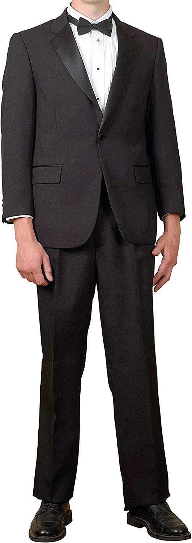 Broadway Tuxmakers Men's 100% Wool 1 Button Classic Notch Collar Tuxedo Jacket
