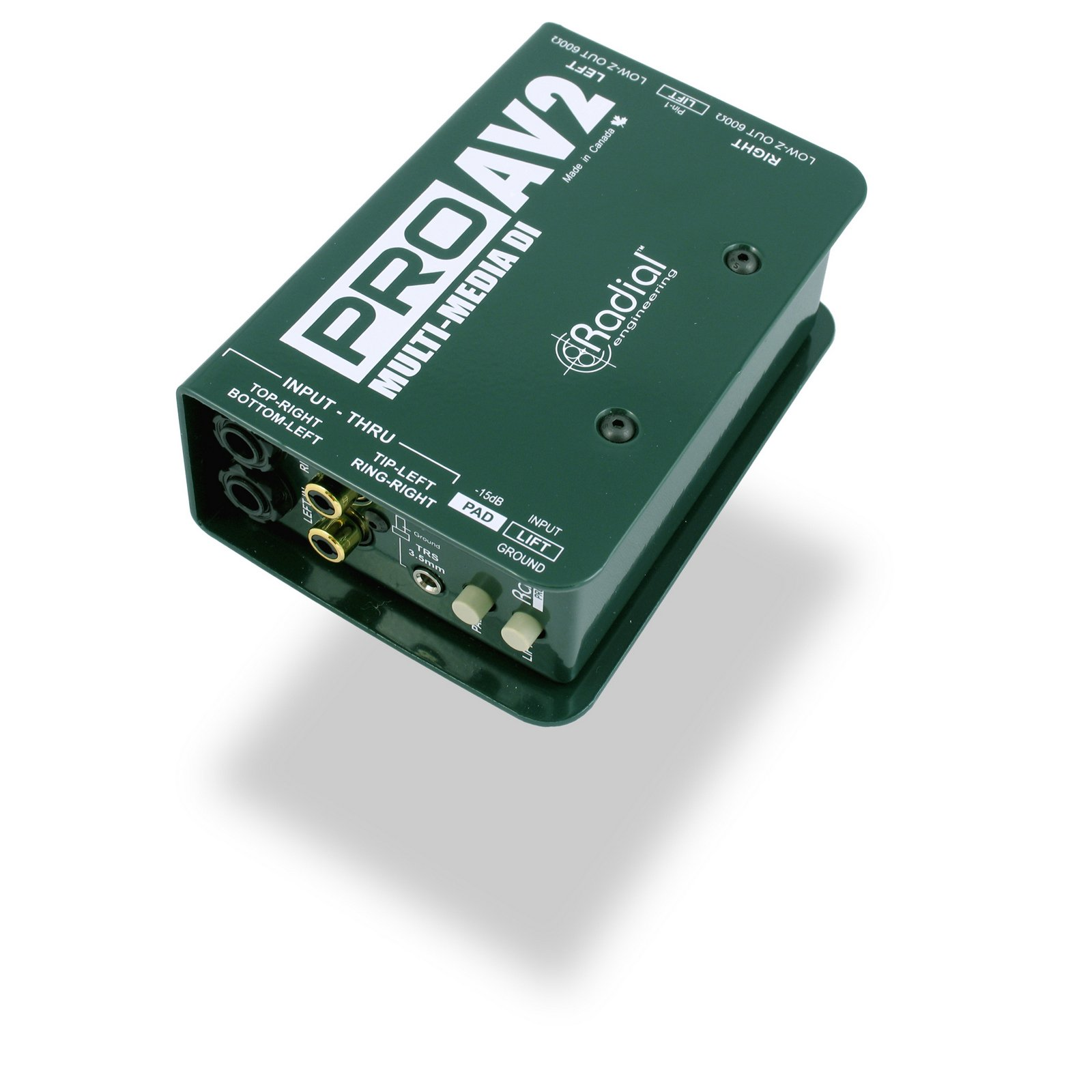 Radial ProAV2 | Two Channel Passive Direct Injection Box