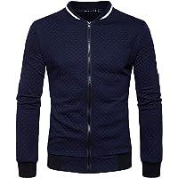 WSLCN casaco masculino outono inverno zíper gola alta cor sólida casaco agasalho suéter cardigãs moletons