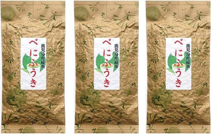 お茶の山麓園 べにふうき茶 鹿児島産茶葉 メチル化カテキン含有 300g (3個)