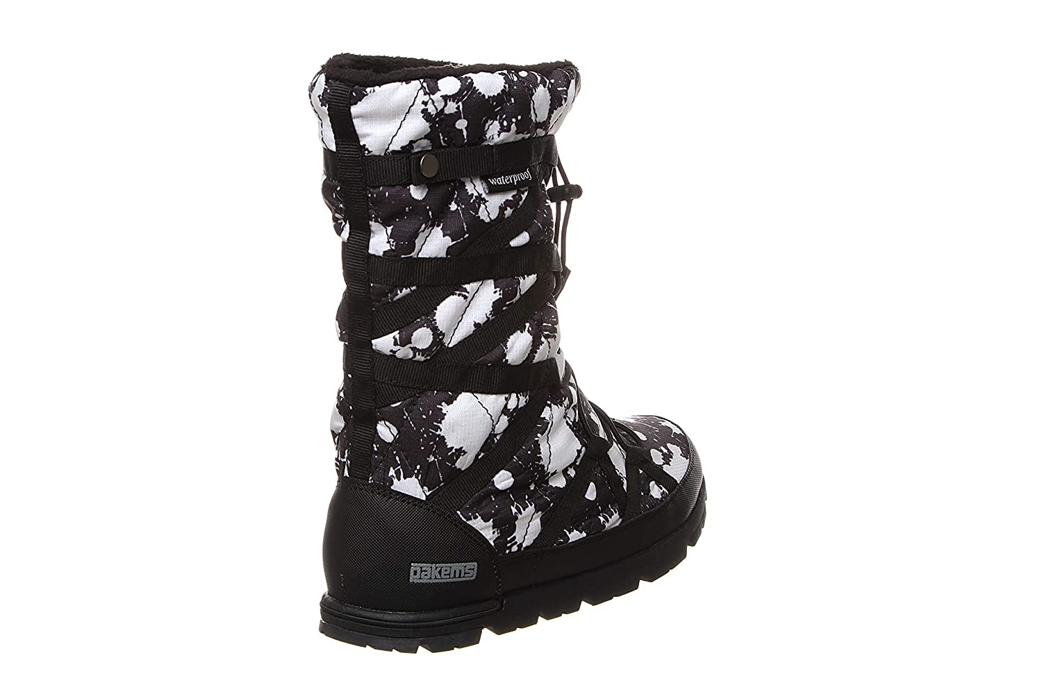 Waterproof Sizes 11-5 Pakems Cortina Paint Splash Girl/'s Lightweight Mid-Calf High Packable Fashionable After Sport and Travel Boot Customizable with Fun Arts and Crafts Colored Marker Pack