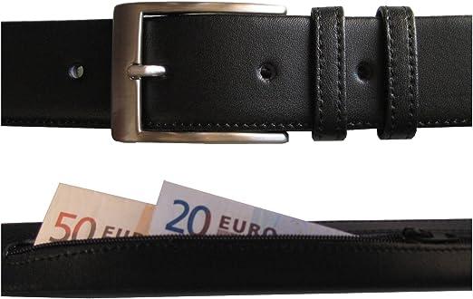 Hecho en España - Cinturón de piel con cremallera interior para ...