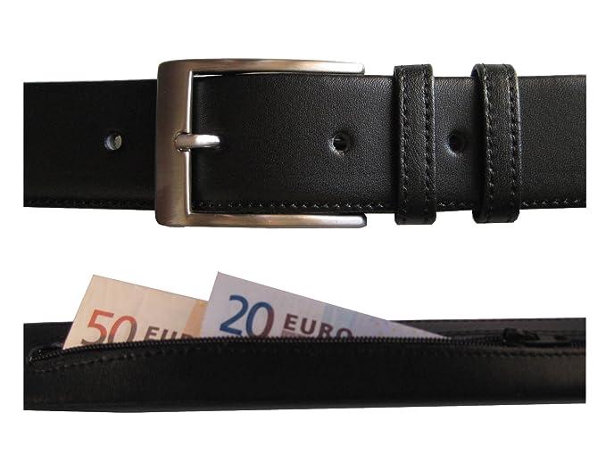 nouveau concept 81e3d 9a210 Handmade in Spain Idées cadeaux pour homme! Ceinture en cuir de qualité  pour hommes avec poche secrète - Idéal pour cacher de l'argent tout en ...