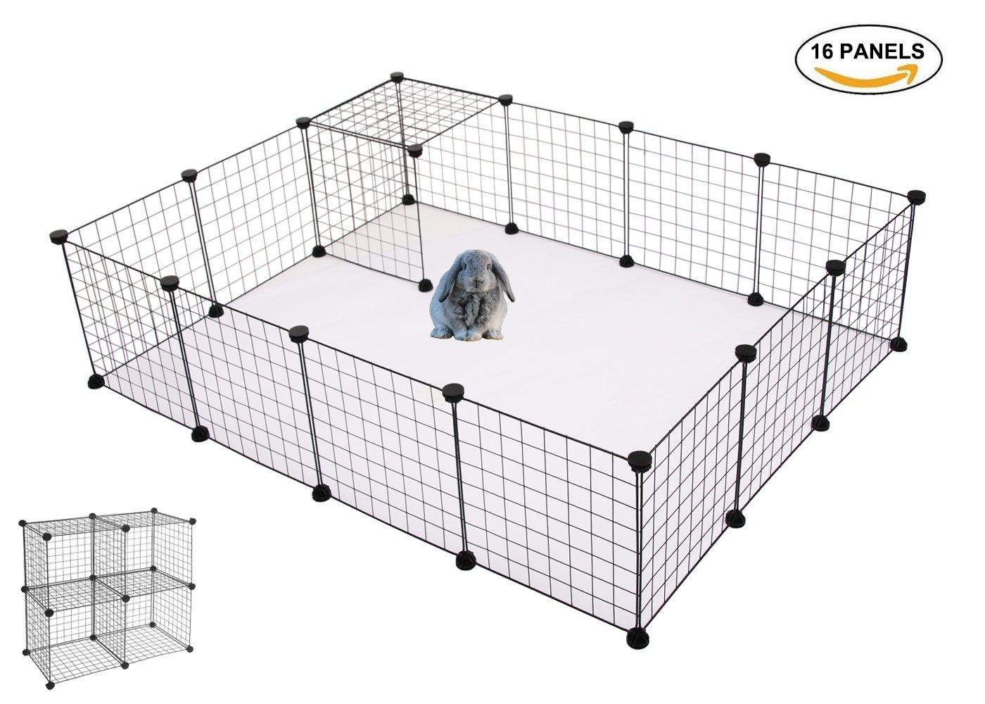 Langxun Metal Wire Storage Cubes Organizer, DIY Small Animal Cage ...