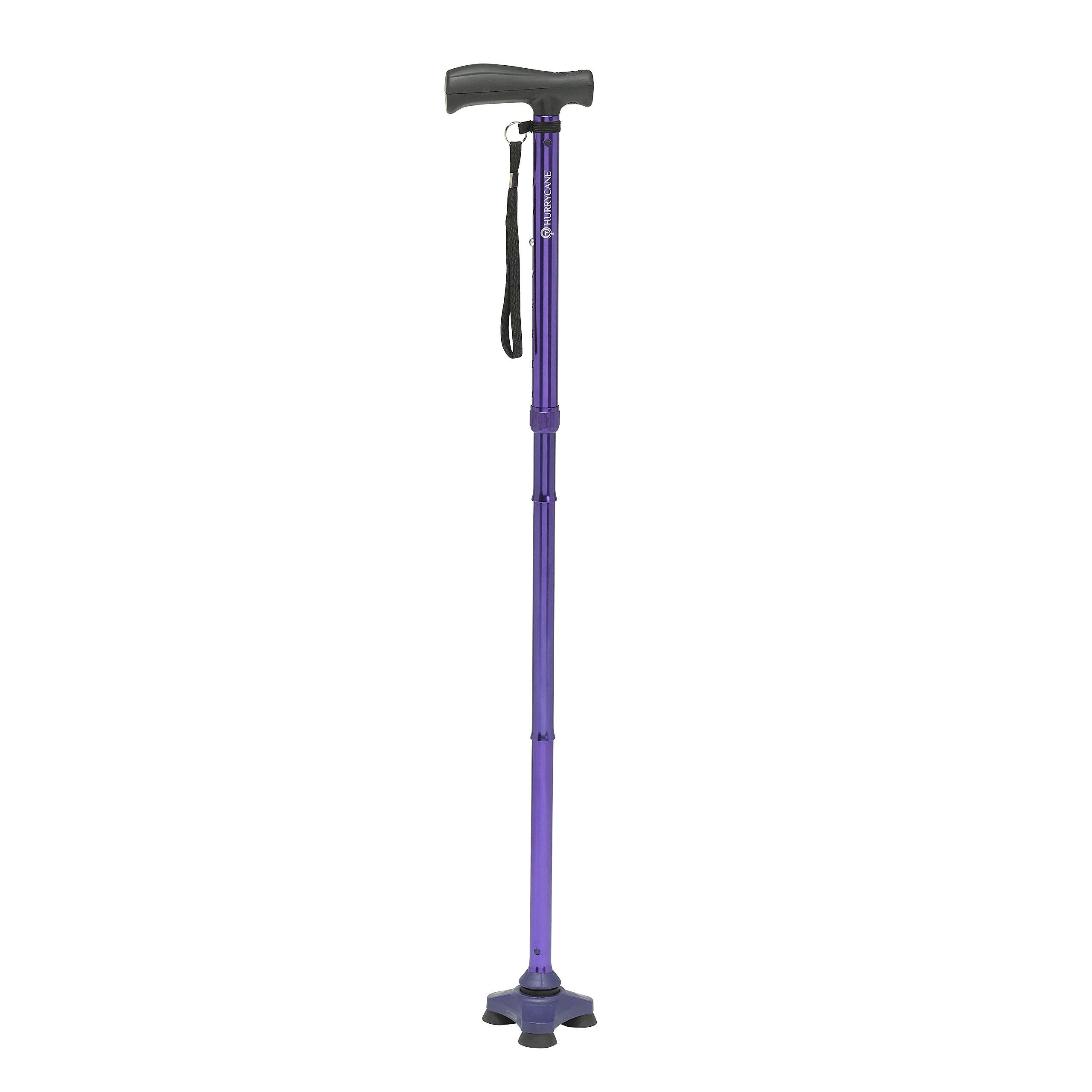 HurryCane Freedom Edition Folding Cane with T Handle, Pathfinder Purple