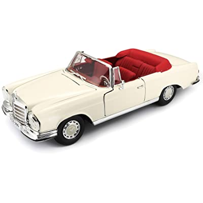 Maisto 1:18 1967 Mercedes-Benz 280SE Cabrio Diecast Vehicle: Toys & Games