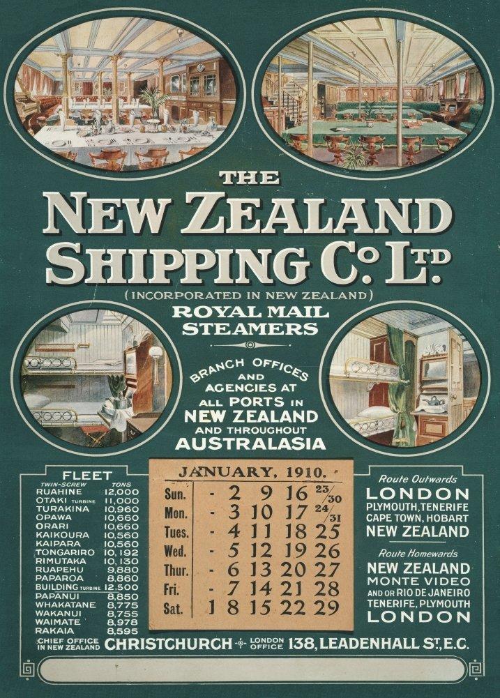 Nueva Zelanda Royal Mail Steamers, The New Zealand Shipping ...