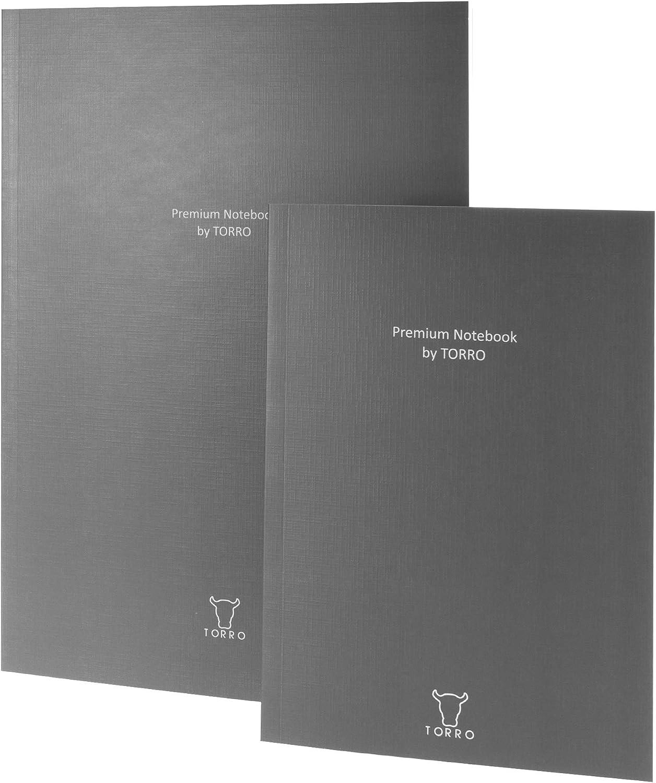 TORRO Papier Notizbuch 75 Liniert 80gsm Kompatibel Mit Dem TORRO Leder Hardback Notizbuch A4 3er Pack