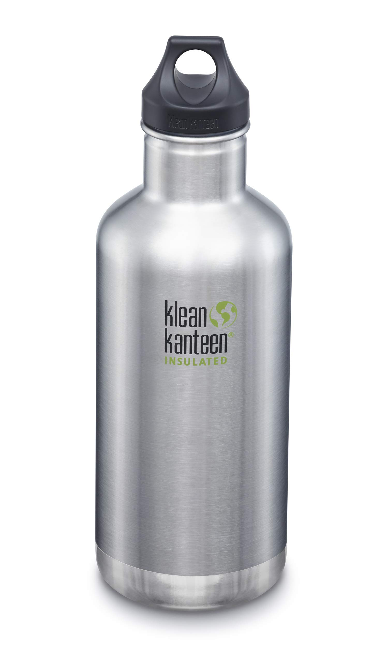 Klean Kanteen Classic Stainless Steel Double Wall Insulated Water Bottle with Loop Cap