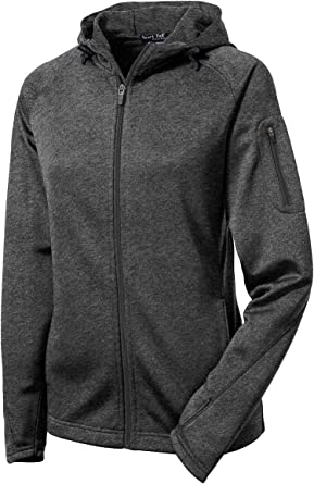 Sport Tek Ladies Tech Fleece Full Zip Hooded Jacket M Graphite Heather At Amazon Women S Coats Shop Raglan sleeves and thumbhole cuffs. sport tek ladies tech fleece full zip hooded jacket m graphite heather