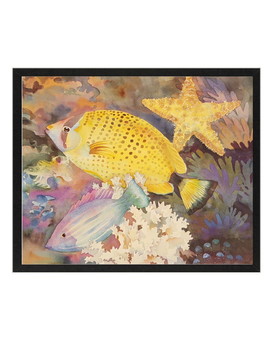 Amazon.com: Tropical Fish with Starfish By Lesta Frank 8x10 Art ...