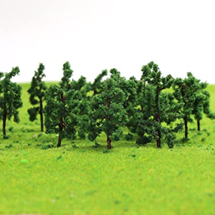 Amazoncom D3813 100pcs Model Trees 38mm149 Inch N Ho Scale Train