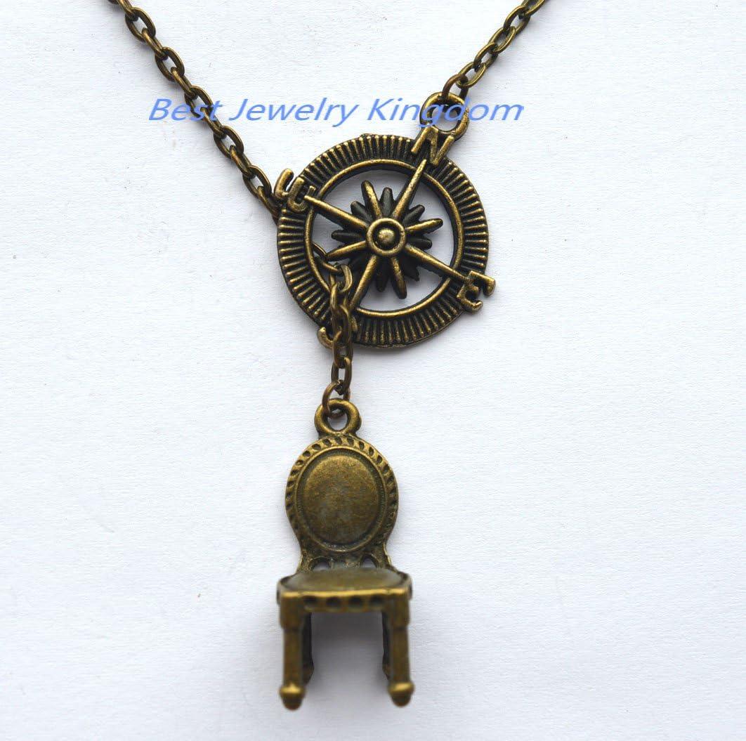 Amazon.com: Compass Necklace,explore Necklace, travel Charm,Chair