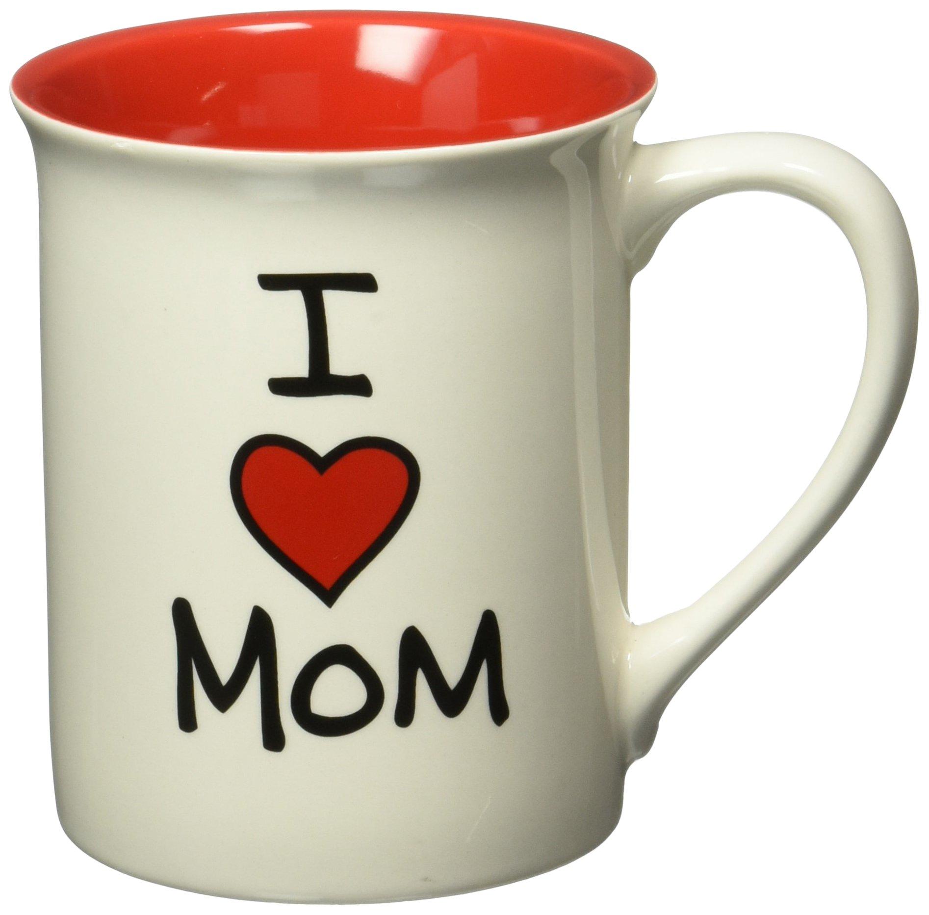 "Our Name is Mud ""I Heart Mom"" Stoneware Mug, 16 oz."