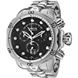 腕時計 インヴィクタ Invicta Men's 1539 Reserve Venom Chronograph Black Dial Stainless Steel Watch【並行輸入品】
