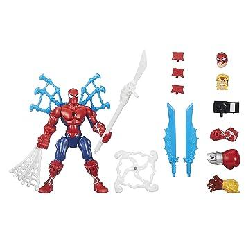 Hero Figure Super Marvel Spider Avengers Mashers Spin Man Attack ARj5q34L