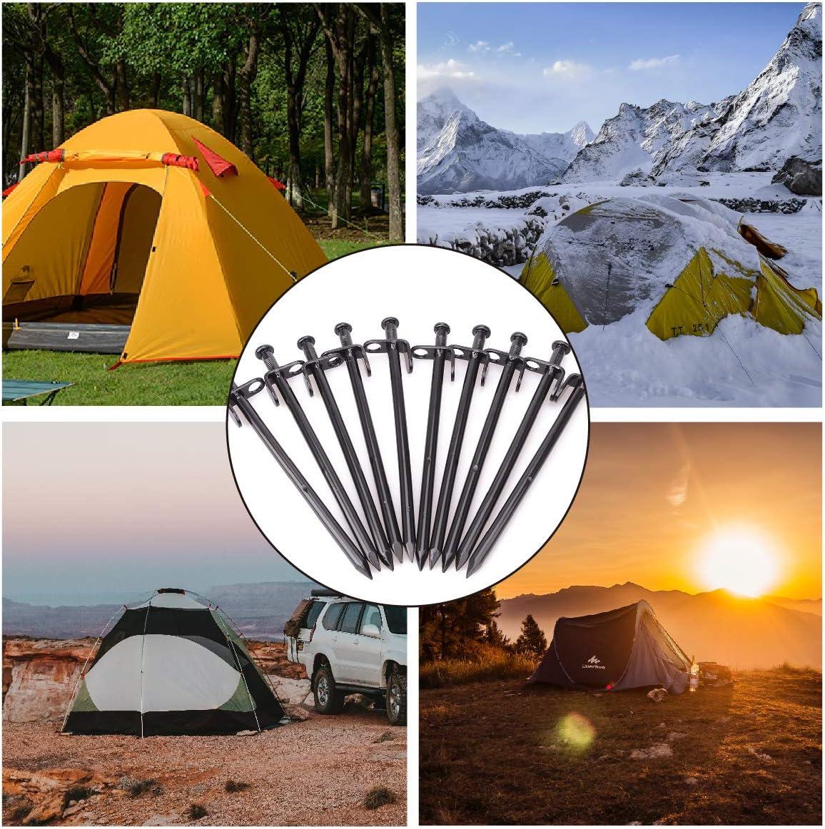 Heavy Duty en Acier Galvanisé Piquet de Tente Auvent Camping Sol Dur jeu