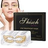 SHISOH 10 Pack Collagen 24K Gold Under Eye Mask