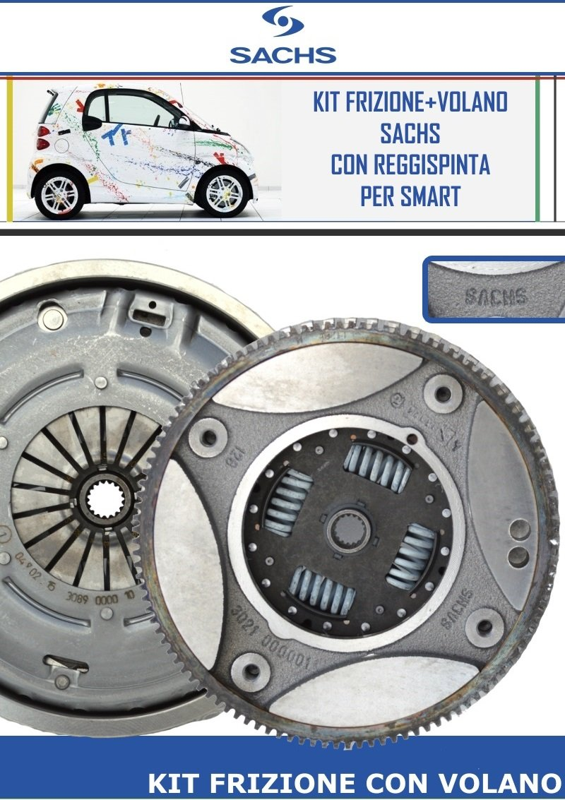 Kit Embrague y volante Sachs para Smart Smart city-coupé 30 KW 0.8 CDI: Amazon.es: Coche y moto