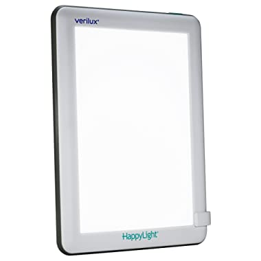 Verilux HappyLight Lucent 10,000 Lux LED Bright White Light Therapy Lamp