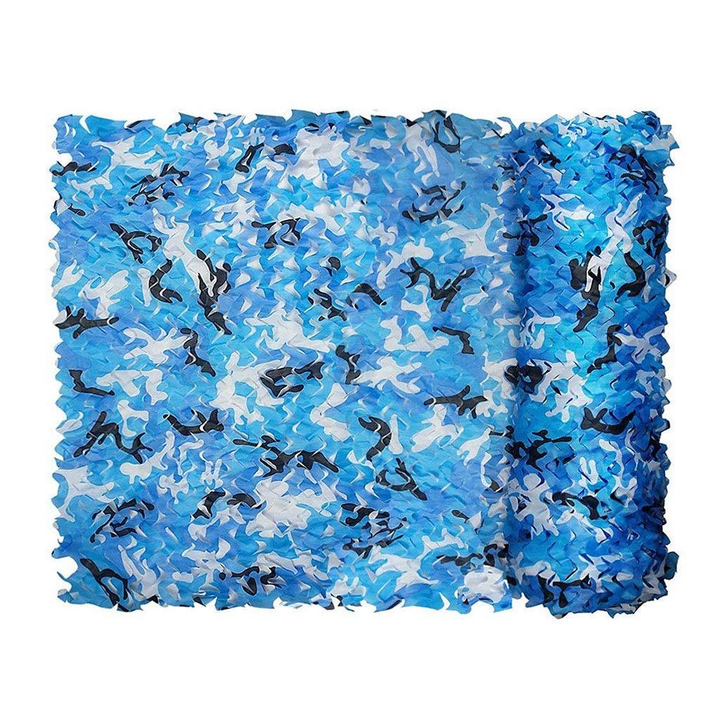 Axdwfd Rete Mimetica, Rete Mimetica Woodland, per la Caccia di Campeggio Reti di Protezione Solare Le Dimensioni Possono Essere Personalizzate (colore   Aqua blu, Dimensioni   13×16ft 4×5m)
